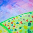 Stock Photo: Watercolour field