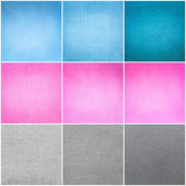 Old Vintage Papers Texture Set (Blue, Pink, Grey) Background — Stock Photo