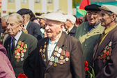 Unidentified veterans during the celebration of Victory Day. MIN — Stock Photo
