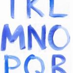 Handwritten Blue Watercolor ABC Alphabet — Stock Photo #30024491