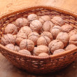 Stock Photo: Basket Full Of Walnuts