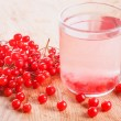 Cup of drink red ripe viburnum — Stock Photo
