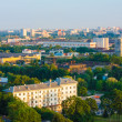 Minsk (Belarus) City Quarter With Green Parks Under Blue Sky — Stock Photo