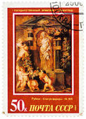 "Stamp printed in USSR, shows painting artist Peter Paul Rubens "" — Stock Photo"