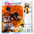 Stamp printed in CUBA, devoted Olympic Games in Moscow (1980) an — Stock Photo