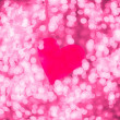 Shiny heart bokeh light Valentine's day background — Foto Stock
