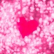 Shiny heart bokeh light Valentine's day background — Stock fotografie