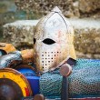 Protective Helmet Medieval Knight — Stock Photo #39229671