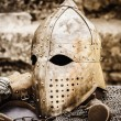 Protective Helmet Medieval Knight — Stock Photo #39229977