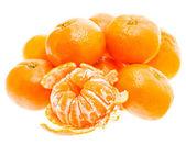Peeled Tasty Sweet Tangerine Orange Mandarin Fruit — Stock Photo