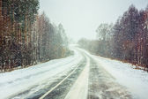Snowy Land Road — Photo