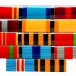 Collection of Russian (soviet) medals for participation in the S — Stock Photo #41821593