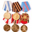 Collection of Russian (soviet) medals for participation in the S — Stock Photo #41822285