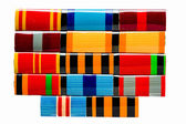 Collection of Russian (soviet) medals for participation in the S — Stock Photo