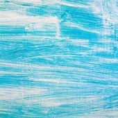 Main peinte fond bois — Photo