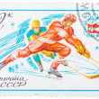 Stamp printed in Russi(Soviet Union) shows Winter Olympic Game — Stock Photo #41953107