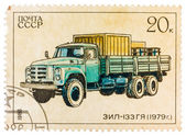 Stamp printed in Russia, shows retro truck ZIL - 133 — Stock Photo