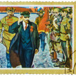 Stamp printed in the USSR shows Lenin on Red Square by K. Filato — Stock Photo