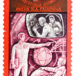 Stamp printed in the USSR shows training of cosmonauts, one stam — Stock Photo #42038459