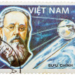 Stamp printed in the Vietnam shows Konstantin Tsiolkovsky, 1st M — Stock Photo