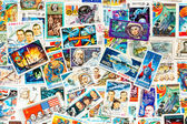 Stamps printed in different countries shows cosmos cosmic space  — Stock Photo