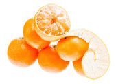 Fresh mandarin citrus isolated tangerine mandarine orange in hea — Stock Photo