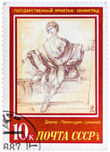 Stamp printed in the USSR, shows a painting artist Albrecht Dure — Stock Photo