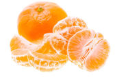 Peeled Tasty Sweet Tangerine Orange Mandarin Fruit — Stock Photo