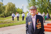 Unidentified veteran during the celebration of Victory Day. GOME — Stock Photo