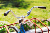 Vintage bicycle detail close up — Stock Photo