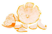 Orange Mandarin Peel  — Stock Photo