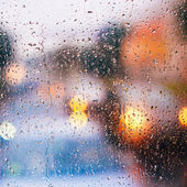 Drops On Glass After Rain — Stock Photo