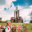 Постер, плакат: Afghanistan War Memorial On Island Of Tears Ostrov Slyoz in Mi