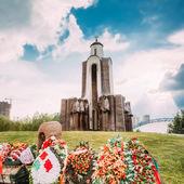 Afghanistan War Memorial On Island Of Tears (Ostrov Slyoz) in Mi — Stock Photo