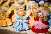 Colorful Belarusian Straw Dolls At The Market In Belarus — Stock Photo