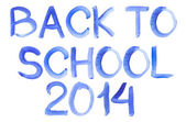 Handwritten Message Back To School Isolate White Background — Stockfoto