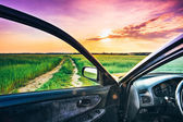 View from car window — Stockfoto