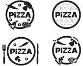 Pizza logo — Stock Vector