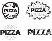 Pizza logo — Stock Vector
