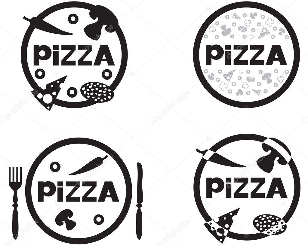 logotipo de pizza - Ilustración de stock