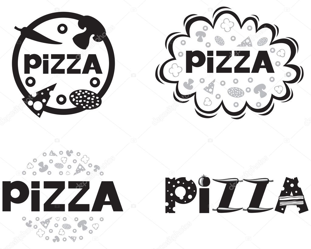 Logotipo de pizza — Vetor de Stock © agrino #12580800