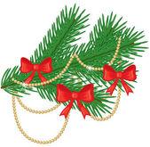 Christmas fir branch — Stock Vector