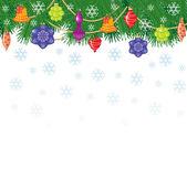 Рождество и новый год карта — Cтоковый вектор