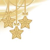 Altın christmas yıldız — Stok Vektör