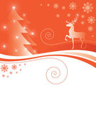 Christmas card with a deer — Vector de stock