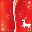 Royalty-Free Stock Vector Image: Christmas card with a deer