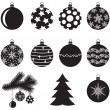Christmas baubles set — Stock Vector #16281869