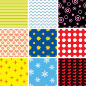Simple seamless patterns — Stock Vector