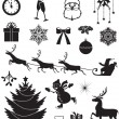 Christmas icon set — Grafika wektorowa