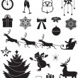 Christmas icon set — Stock Vector #16872689
